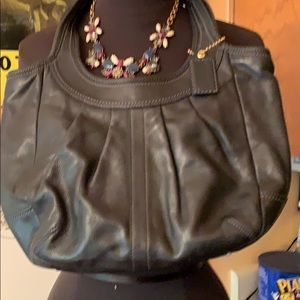 Small coach hobo leather bag clean interior